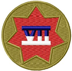 7th Army Corps embroidery design