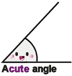 Acute Angle embroidery design