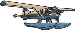 Sea Plane embroidery design