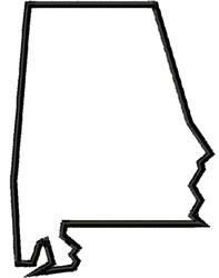 Alabama State embroidery design