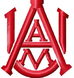 Alabama A&M Logo embroidery design