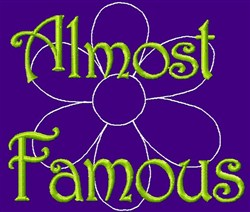 Almost Famous embroidery design