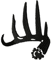 Single Antler embroidery design
