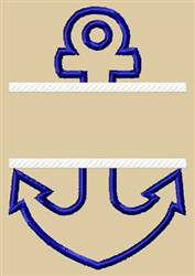 Applique Anchor embroidery design