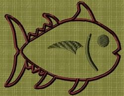 Applique Fish embroidery design