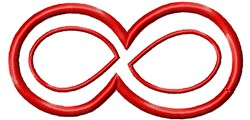 Applique Infinity Symbol embroidery design