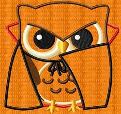 Applique Dracula Owl embroidery design