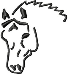 Arabian Horse Head embroidery design