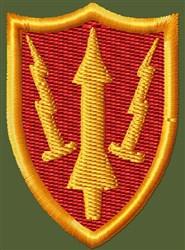 Aradcom Badge Patch embroidery design