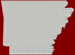 State Of Arkansas embroidery design