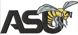 ASU Mascot embroidery design