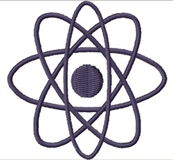 Stylized Atom embroidery design