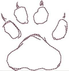 Wolf Print Rear Foot embroidery design