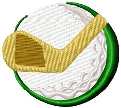 Ball & Club embroidery design