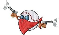 Baseball Bandit embroidery design