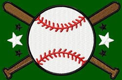 Baseball With Bats embroidery design