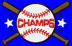 Baseball Champs embroidery design