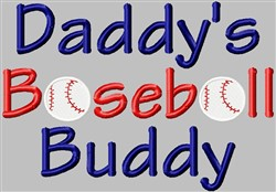 Baseball Buddy embroidery design