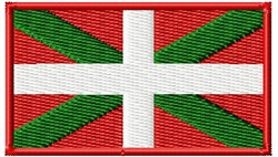 Basque Flag embroidery design