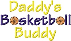 Dad Basketball Buddy embroidery design