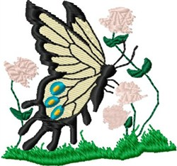 Butterfly Clover embroidery design