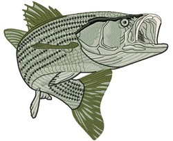 Largemouth Striped Bass embroidery design