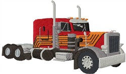 Big Rig Truck embroidery design