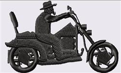 Biker Silhouette embroidery design