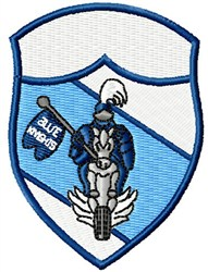 Knights In Blue embroidery design