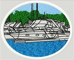 Boat Cut Out embroidery design