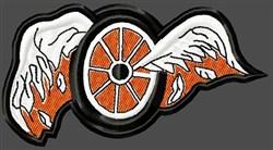 Broken Wings Wheel embroidery design