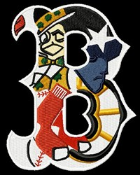 Boston Sports Grouping embroidery design