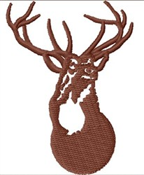 Buck embroidery design
