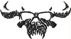 Bull Skull embroidery design