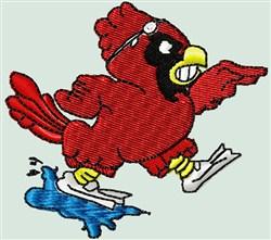 Cardinal Scuba Dive embroidery design