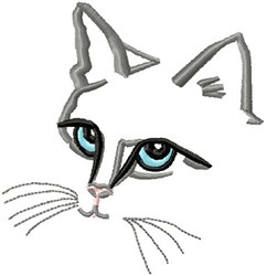 Cat Head embroidery design