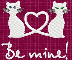 Be Mine Kitties embroidery design