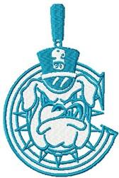 C Bull Dog embroidery design