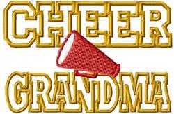 Cheer Grandma embroidery design