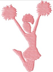 Cheerleader Jumping embroidery design