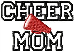 Applique Cheer Mom embroidery design