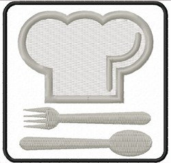 Chef Emblem embroidery design