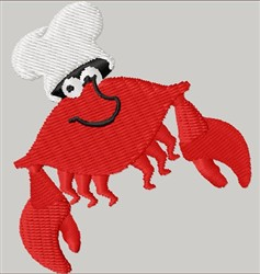 Crabby Chef embroidery design