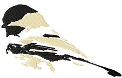 Chickadee Abstract embroidery design