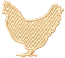 Small Chicken embroidery design