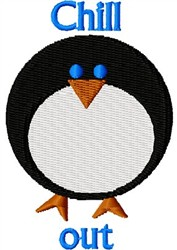 Chill Out Penguin embroidery design