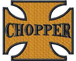 Chopper Cross embroidery design