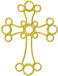 Circular Cross embroidery design