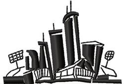Cityscape embroidery design