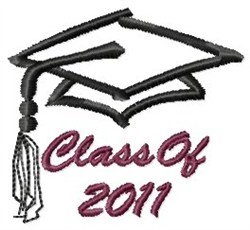 Class Of 2011 embroidery design